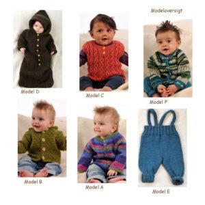 Baby strikkeopskrift Ragg og Incawoll no 23