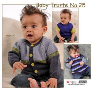 Baby strikkeopskrift Trunte no 25