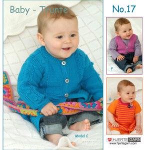 Baby strikkeopskrift Trunte nr 17