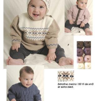 Baby strikkeopskrifter nr 57