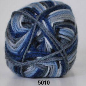 Basic- Strømpegarn - Superwash - fv 5010 Flerfarvet