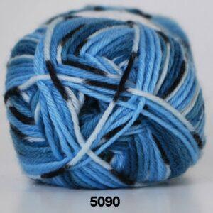 Basic- Strømpegarn - Superwash - fv 5090 Flerfarvet