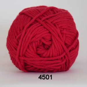 Cotton 8/8 fv 4501 Rød