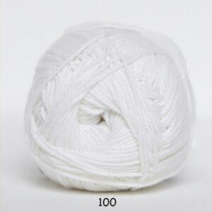 Cotton nr. 8 - Bomuldsgarn - Hæklegarn - fv 100 Hvid