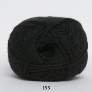 Cotton nr. 8 - Bomuldsgarn - Hæklegarn - fv 199 Sort