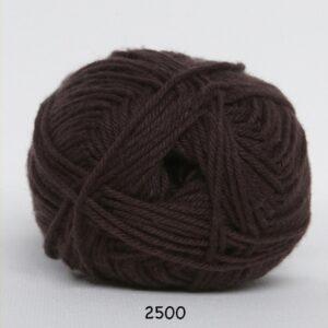 Cotton nr. 8 - Bomuldsgarn - Hæklegarn - fv 2500 Mørke Brun