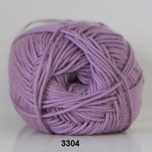 Cotton nr. 8 - Bomuldsgarn - Hæklegarn - fv 3304 Lavendel