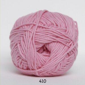 Cotton nr. 8 - Bomuldsgarn - Hæklegarn - fv 410 Baby Lyserød