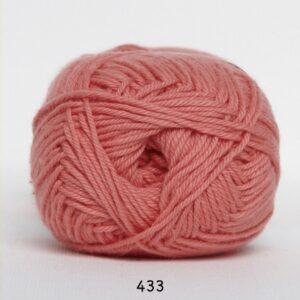 Cotton nr. 8 - Bomuldsgarn - Hæklegarn - fv 433 Lys Koral