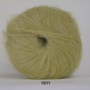Hjertegarn Silk Kid Mohair Garn - fv 1011 Lys Lime Grøn