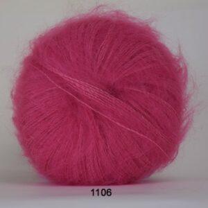 Hjertegarn Silk Kid Mohair Garn - fv 1106 Lys Pink