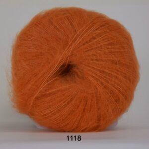 Hjertegarn Silk Kid Mohair Garn - fv 1118 Orange