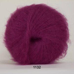 Hjertegarn Silk Kid Mohair Garn - fv 1132 Mørk Pink