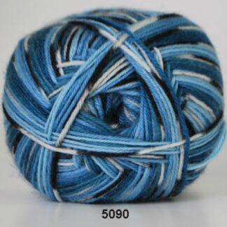 Strømpegarn - Hjertegarn - Aloa - 5090 Flerfarvet