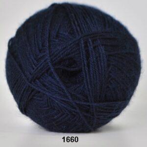 Strømpegarn - Hjertegarn - Aloa - fv 1660 Mørk Blå