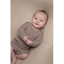 """brede"" body - knøttestrikk 66 kit - 1-24 mdr. - viking baby ull"