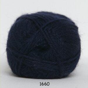 Hjerte Alpaca - Alpaca Uldgarn - fv 1660 Mørk Blå