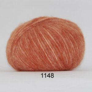 Hjertegarn Børstet Uld - Alpaca Uld Garn - fv 1148 Orange