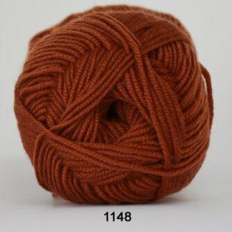 Hjertegarn Extrafine Merino 120 Garn - fv 1148 Rust Rød