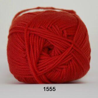 Hjertegarn Extrafine Merino 120 Garn - fv 1555 Hindbærrød