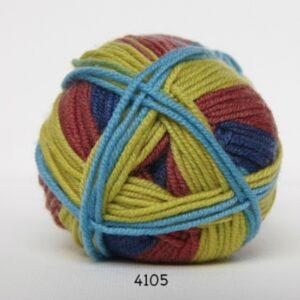 Hjertegarn Extrafine Merino 120 Garn - fv 4105 flerfarvet