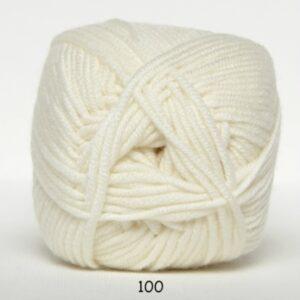 Hjertegarn Extrafine Merino 150 Garn - fv 100 Råhvid