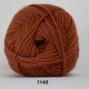Hjertegarn Extrafine Merino 150 Garn - fv 1148 Rust Rød