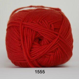 Hjertegarn Extrafine Merino 150 Garn - fv 1555 Hindbær Rød