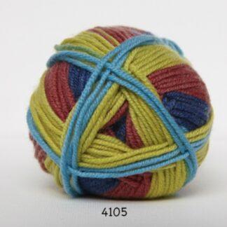 Hjertegarn Extrafine Merino 150 Garn - fv 4105 Flerfarvet