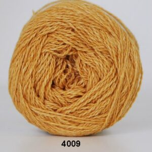 Hjertegarn Organic 350 - Økologisk Merinould Garn - fv 4009 Karry gul