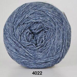 Hjertegarn Organic 350 - Økologisk Merinould Garn - fv 4022 Is blå