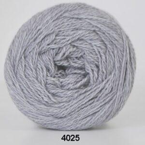 Hjertegarn Organic 350 - Økologisk Merinould Garn- fv 4025 Lys grå