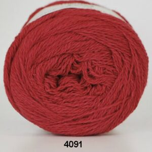 Hjertegarn Organic 350 - Økologisk Merinould Garn- fv 4091 Rød