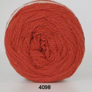 Hjertegarn Organic 350 - Økologisk Merinould Garn - fv 4098 Mørk orange