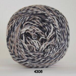 Hjertegarn Organic 350 - Økologisk Merinould Garn - fv 4306 flerfarvet