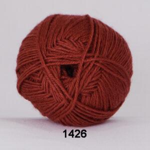 Hjertegarn Bamboo Wool - Uldgarn med bambus garn - Fv 1426 Rust