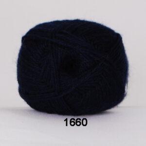Hjertegarn Bamboo Wool - Uldgarn med bambus garn - Fv 1660 Mørk Blå