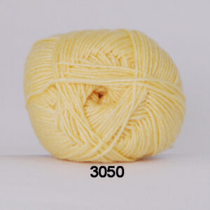 Hjertegarn Bamboo Wool - Uldgarn med bambus garn - Fv 3050 Lys Gul