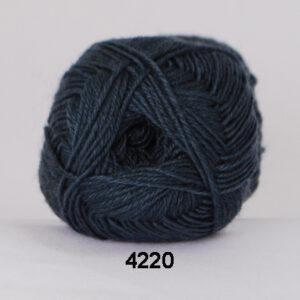 Hjertegarn Bamboo Wool - Uldgarn med bambus garn - Fv 4220 Blå Grøn