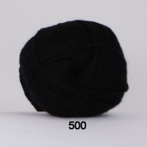 Hjertegarn Bamboo Wool - Uldgarn med bambus garn - Fv 500 Sort