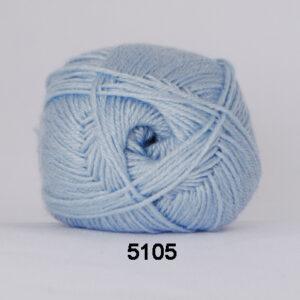 Hjertegarn Bamboo Wool - Uldgarn med bambus garn - Fv 5105 Lys Blå