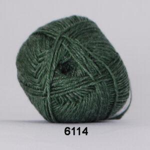 Hjertegarn Bamboo Wool - Uldgarn med bambus garn - Fv 6114 Grøn