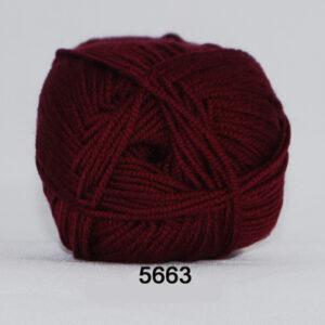 Hjertegarn Extrafine Merino 150 Garn - fv 5663 Mørk Rød