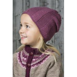 """kurv"" hue - viking design 1601-11 kit - 2-12 år - viking frøya garn"