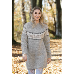 """bris"" genser - viking design 1618-3 kit - xs-xl - viking alpaca"