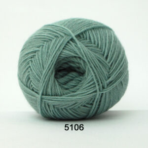 Aloa Vera strømpegarn Hjertegarn - fv 5106 Lys Turkis Grøn