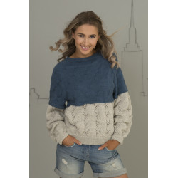 """alma"" genser - viking design 1701-7 kit - xs-xxl - viking alpaca"