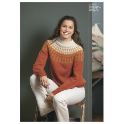 """dora"" genser - viking design 2112-9 kit - xxs-xxxl - viking alpaca"
