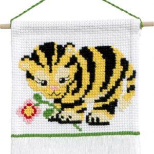 Broderi - Tælle broderi til børn - 13-9721 med Tiger