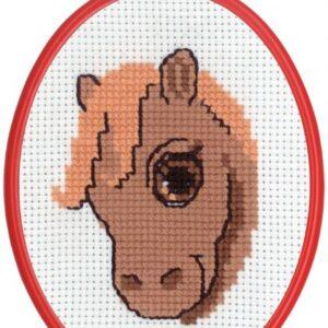 Broderi - Tælle broderi til børn - 92-8391 med Hest